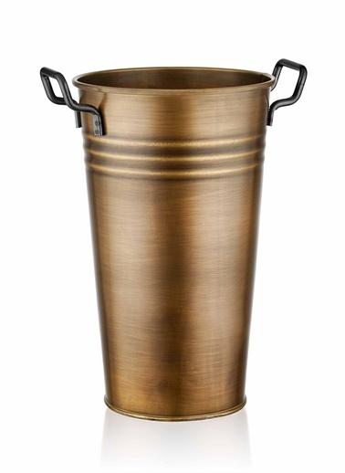 The Mia Vazo 40 Cm - Gold Altın